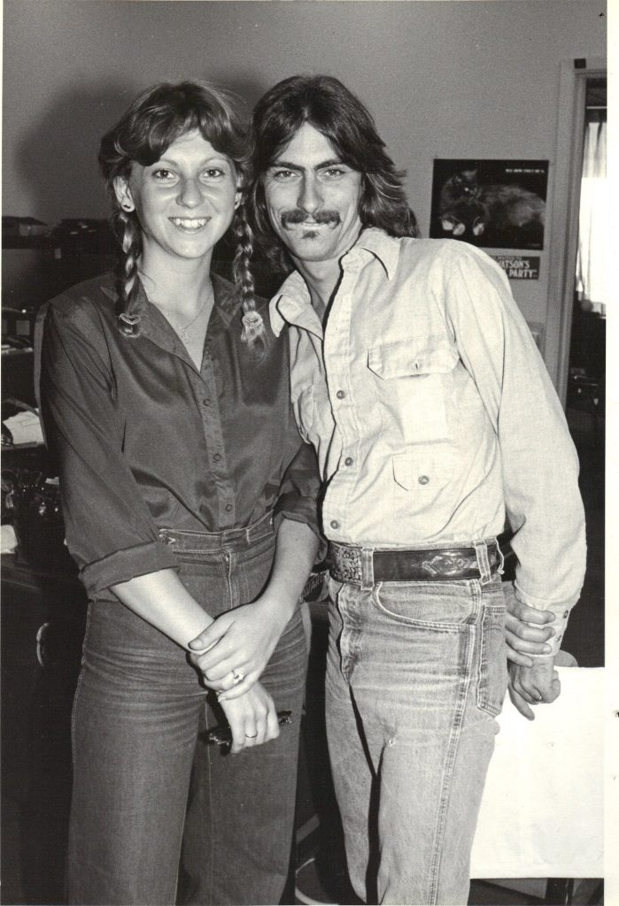 Nadine Martini and Stephen K. Peeples at Capitol Records, spring 1980. Photo: Henry Diltz.