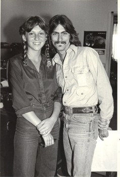 Stephen K. Peeples and Nadine at Capitol, 1979. Photo by Henry Diltz