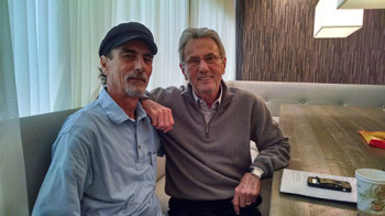 Al Schmitt (right) and Stephen K. Peeples at Capitol Studios on Dec. 2, 2014. Photo: Mike McAteer.