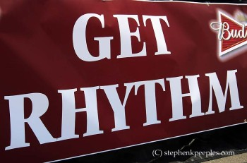 Johnny Cash Roadshow Revival Get Rhythm stage banner