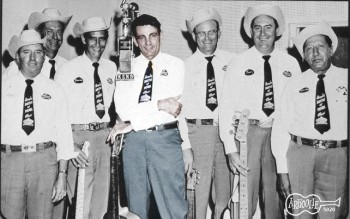 Adolph Hofner Band, from left: Eddie Bowers, J.R. Chatwell, Charlie Harris, Adolph Hofner, Emil Hofner, Leon Merrit and Charlie Poss.