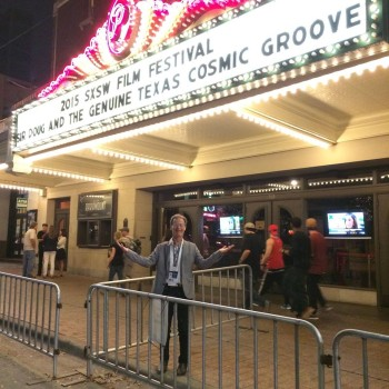Director Joe Nick Patoski at March 2015 premiere of 'Sir Doug & The Genuine Texas Cosmic Groove' film about Doug Sahm at SXSW in Austin.