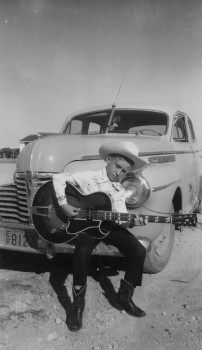 Cars, guitars and Texas music: Doug Sahm was a traveller even as a young'un. Courtesy Sahm Family Archives.