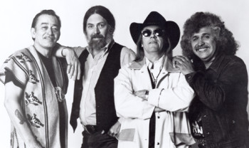 Texas Tornados Flaco Jimenez, Augie Meyers, Doug Sahm and Freddy Fender