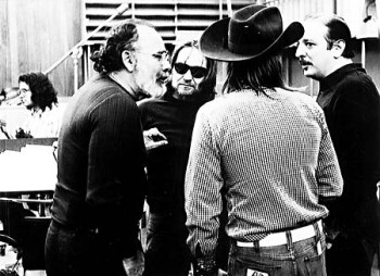 Jerry Wexler, Willie Nelson, Doug Sahm and Arif Mardin