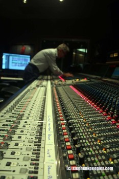Al Schmitt at the board in Studio A, Capitol Studios, Hollywood. Photo: Stephen K. Peeples