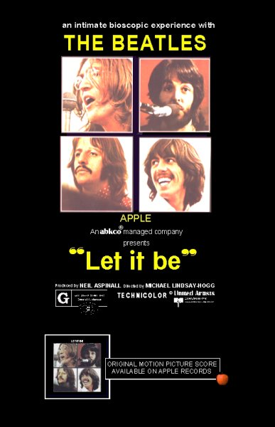 Beatles Let it Be film poster