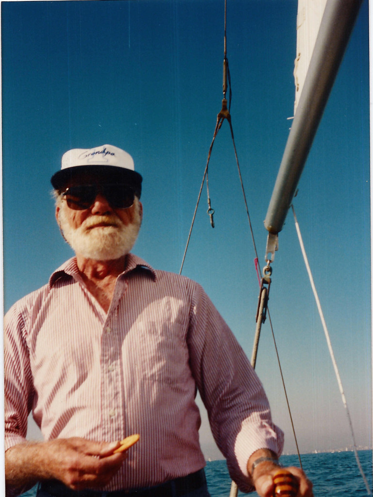 William A. Peeples II aboard Billow, Marina Del Rey, 1986