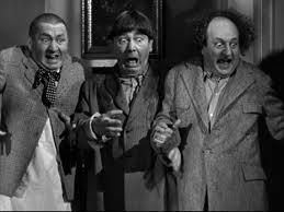The Three Stooges get the heebie-jeebies.