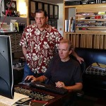 "Chuck Granata and Andreas Meyer mastering ""A Voice on Air."""