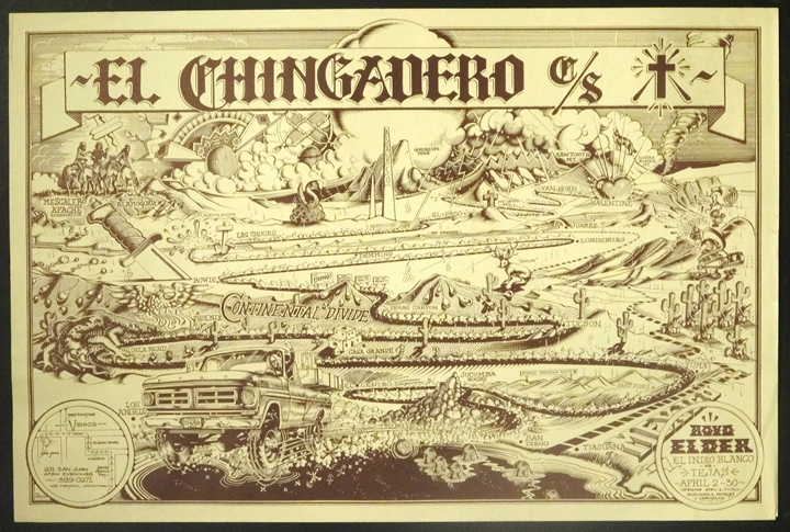 Boyd Elder's 'El Chingadero Show' poster by Rick Griffin