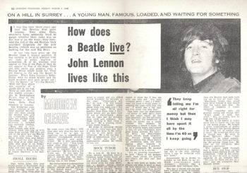 Text of Maureen Cleave article about John Lennon