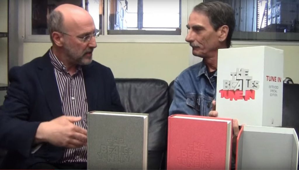 Mark Lewisohn and Stephen K. Peeples, April 2016