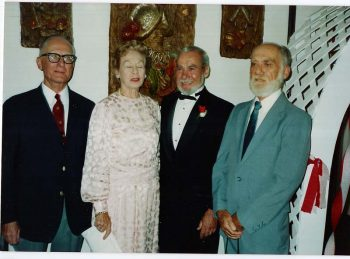 Edward T. Peeples, Persis-Jane Peeples Cline, Richard D. Peeples, William A. Peeples, 1987.
