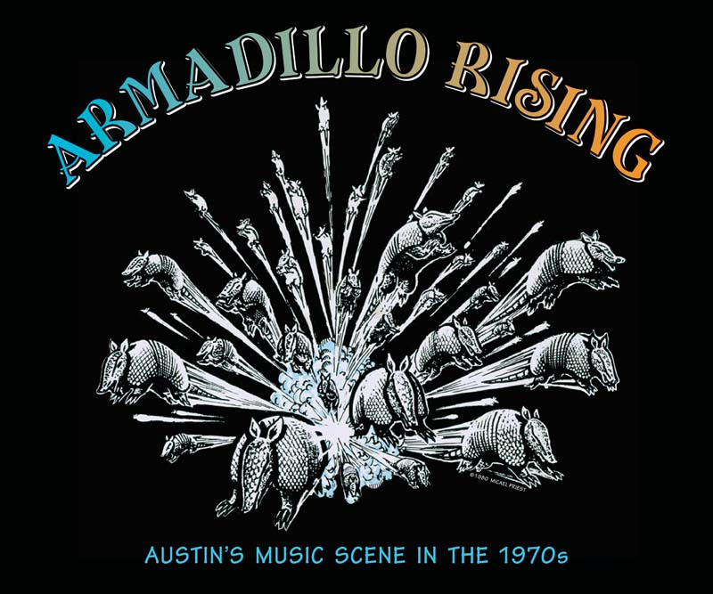 Armadillo Rising poster art by Micael Priest