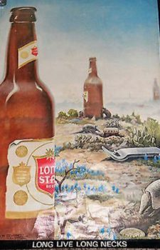 Armadillo Rising Lone Star beer poster by Jim Franklin