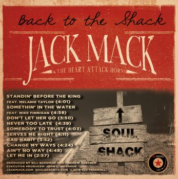 Jack Mack Back to the Shack cover