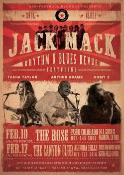 Jack Mack Rhythm & Blues Revue Canyon Club flyer