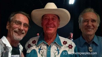 Walk of Western Stars inductees Andre and Renaud Veluzat and Stephen K. Peeples