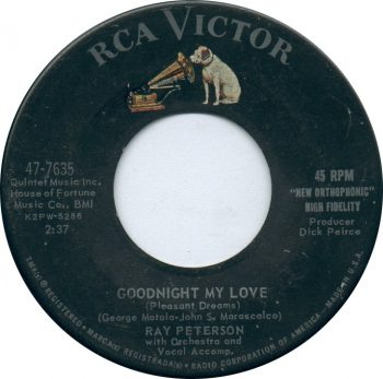 "Ray Peterson ""Good Night My Love,"" RCA 1962"
