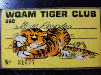 WQAM Tiger Club card