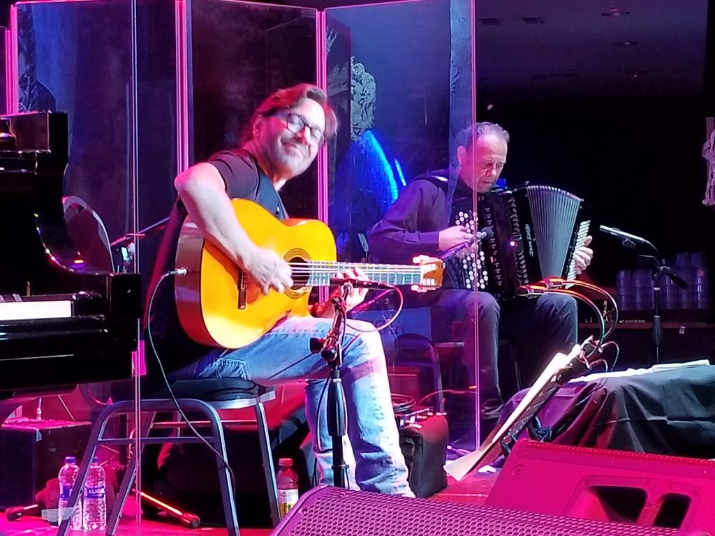 "Guitarist-composer Al Di Meola and his longtime accordion player Flavio Beccalossi brought ""Opus"" to the Canyon Santa Clarita on Sept. 21, 2018. Photo: Stephen K. Peeples."