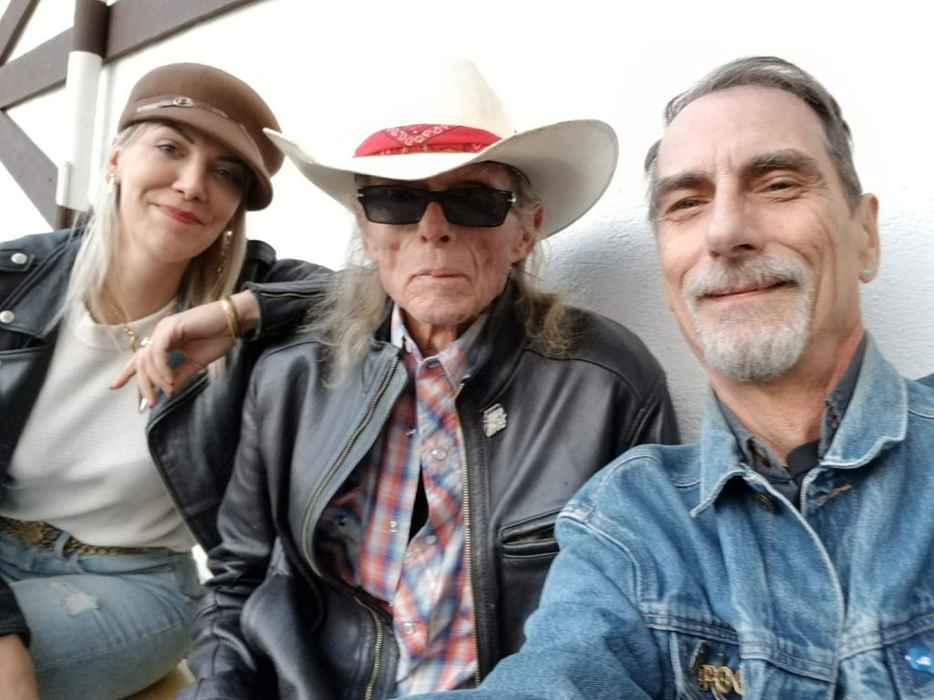 Tamara Deike, Boyd Elder, Stephen K. Peeples. Los Angeles, Feb. 24, 2018.