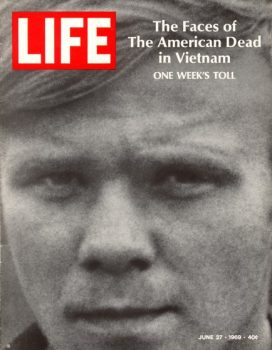 LIFE magazine, June 27, 1969, featuring a portrait of U.S. Army specialist William C. Gearing, Jr., one of 242 American servicemen killed in a single week of fighting during the Vietnam War.