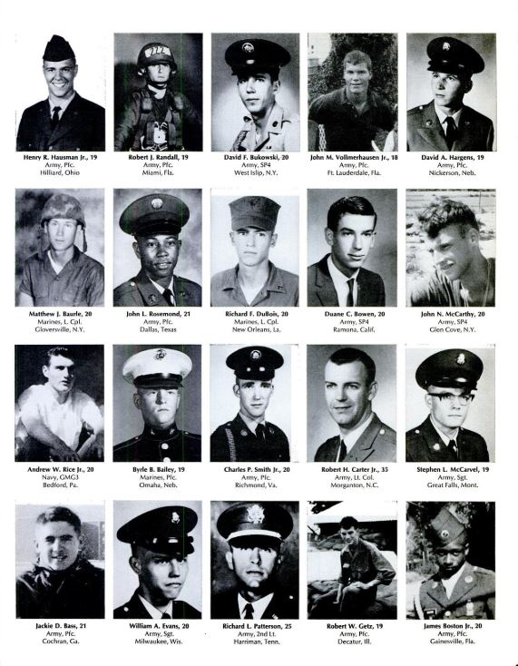 LIFE magazine, June 27, 1969, featuring portraits of 242 American servicemen killed in a single week of fighting during the Vietnam War.