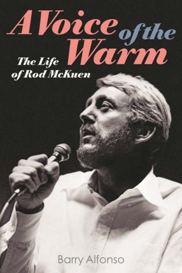 Author Barry Alfonso will guest at a launch party for his new Backbeat book, 'A Voice of the Warm: The Life of Rod McKuen,' at Book Soup on the Sunset Strip in West Hollywood on Tuesday, July 16.