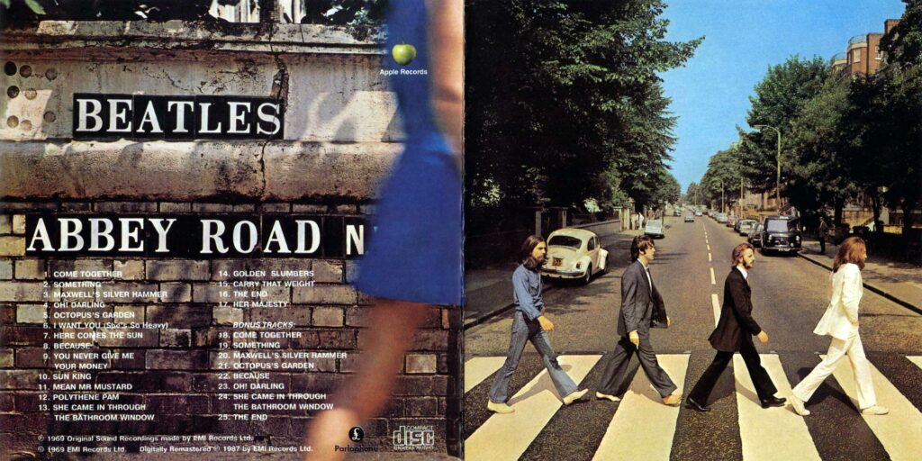 beatles abbey road front back covers