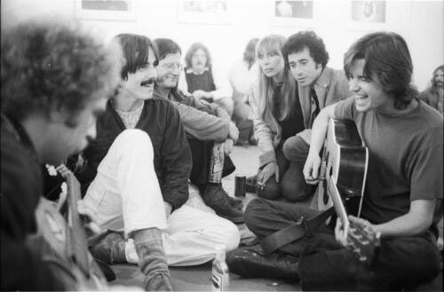 "Jammin' at Boyd Elder's ""Chingadero Show,"" Venice, California, April 2, 1972. Photo: Henry Diltz."