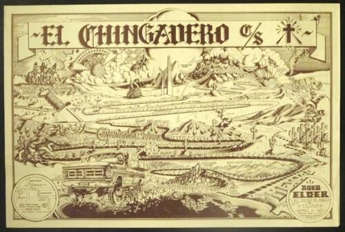 """Boyd Elder's '""""Chingadero Show"""" poster by Rick Griffin."""