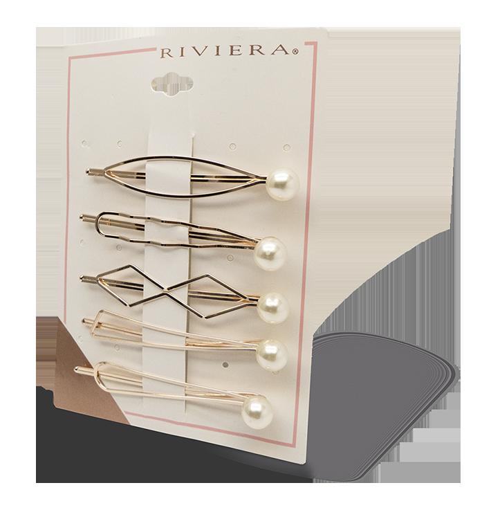 hair card-riviera pearl