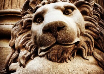Dollar Bank lion, Downtown