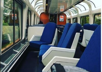 Amtrak train observation car