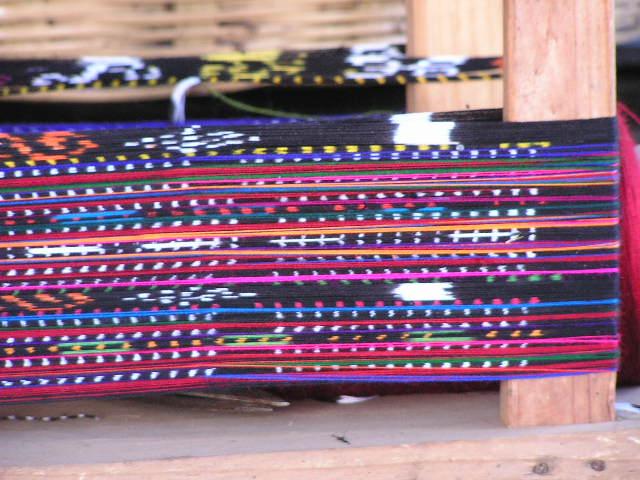 Guatemalan Textiles on a loom