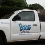 Clear Blue Water Pools Truck Servicing Atascocita Weekly Pool Service