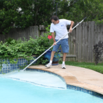 clear blue water pools cleaning all areas of a pool