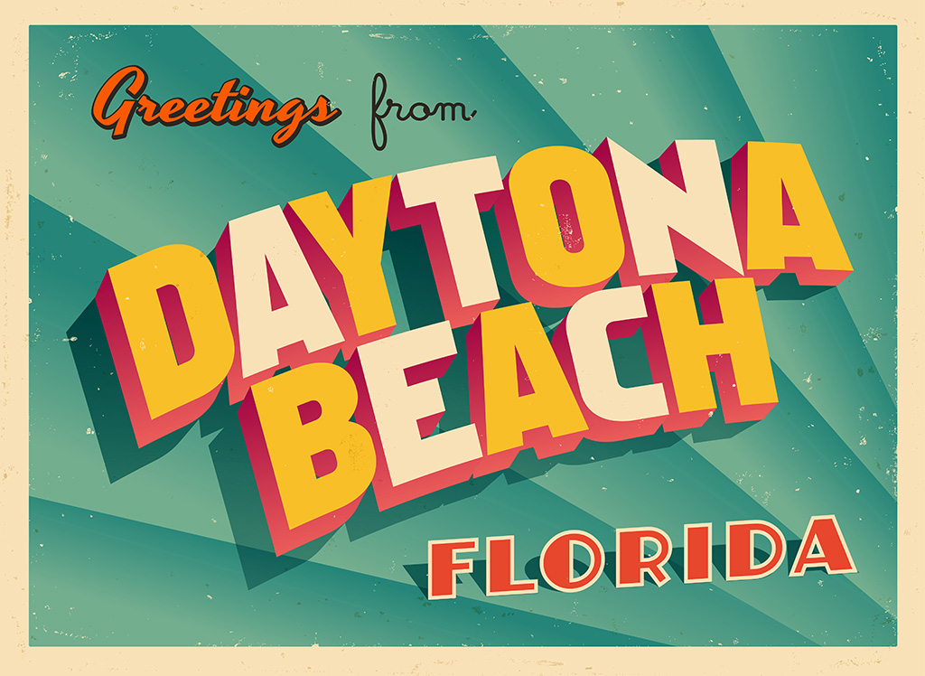 Daytona Beach Vintage Postcard