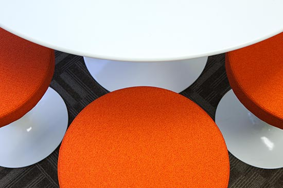Knoll Saarinen Pedestal Stools and Table Top