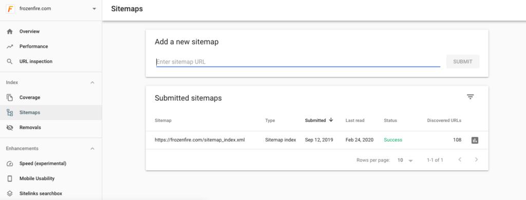 Google Sitemap Submit Tool Screenshot 1