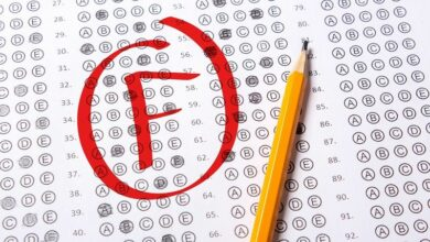 F grade in standardized school test