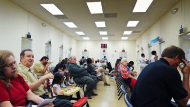 Long Line in DMV office