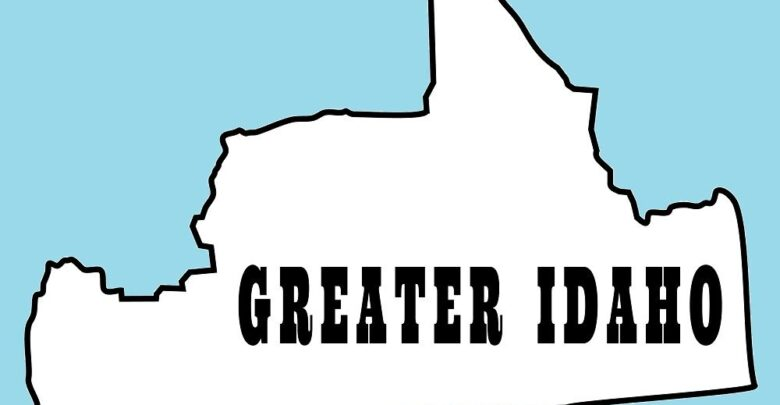 Outline Map of Greater Idaho