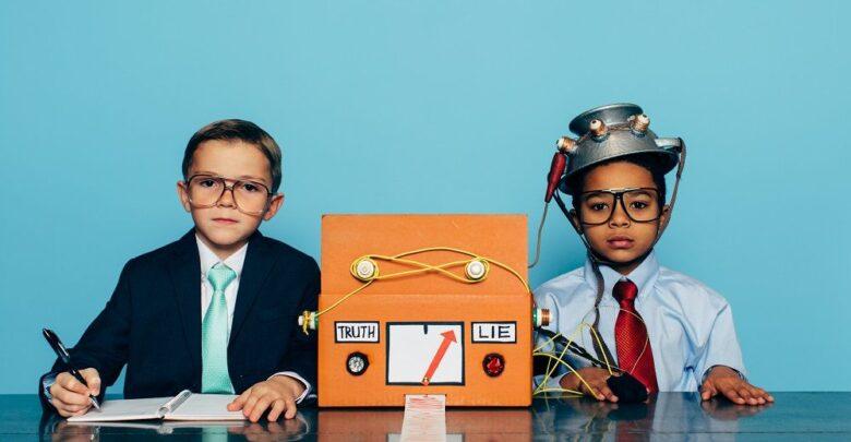 Kids using lie detector