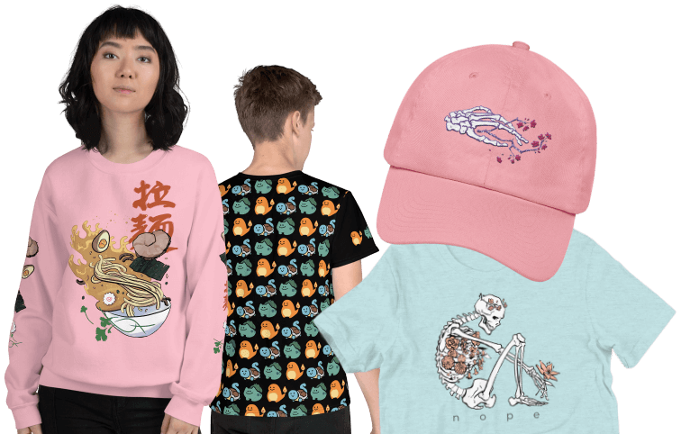 cool art shirts embroidered hats fanart clothes