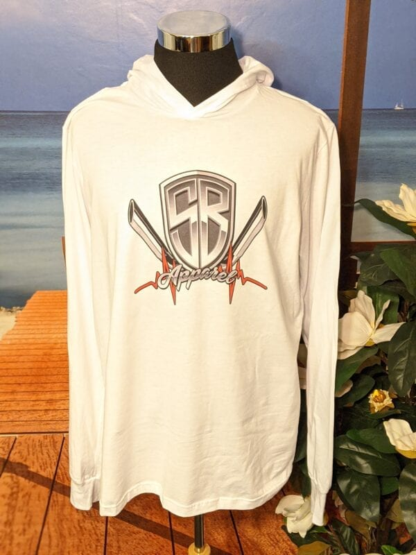 White lightweight hoodie with Special Breed logo