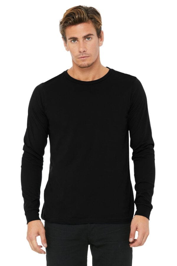 Man in black long sleeve shirt