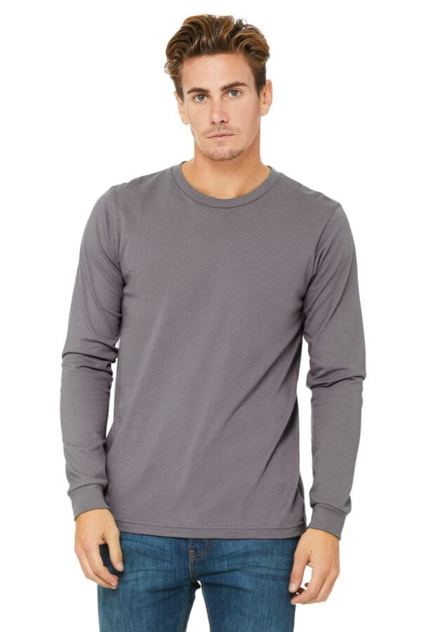 Man in Grey long sleeve shirt